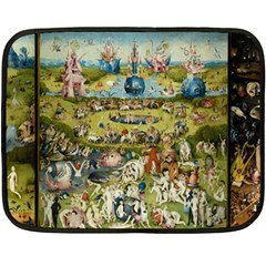Hieronymus Bosch Garden Of Earthly Delights Double Sided Fleece Blanket (mini)  by MasterpiecesOfArt