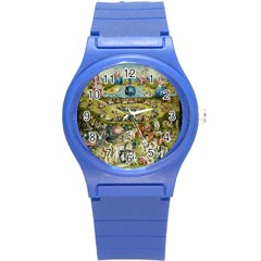 Hieronymus Bosch Garden Of Earthly Delights Round Plastic Sport Watch (s) by MasterpiecesOfArt