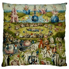 Hieronymus Bosch Garden Of Earthly Delights Large Cushion Case (two Sides) by MasterpiecesOfArt