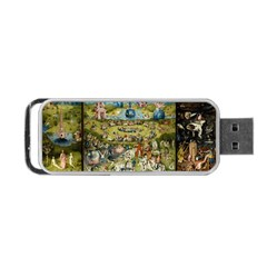 Hieronymus Bosch Garden Of Earthly Delights Portable Usb Flash (two Sides) by MasterpiecesOfArt