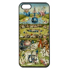 Hieronymus Bosch Garden Of Earthly Delights Apple Iphone 5 Seamless Case (black) by MasterpiecesOfArt