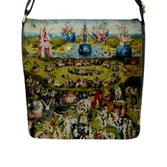 Hieronymus Bosch Garden Of Earthly Delights Flap Messenger Bag (l)  by MasterpiecesOfArt