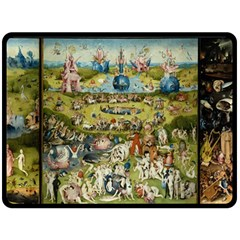 Hieronymus Bosch Garden Of Earthly Delights Double Sided Fleece Blanket (large)  by MasterpiecesOfArt