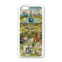 Hieronymus Bosch Garden Of Earthly Delights Apple Iphone 6/6s White Enamel Case by MasterpiecesOfArt