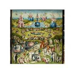 Hieronymus Bosch Garden Of Earthly Delights Small Satin Scarf (square) by MasterpiecesOfArt