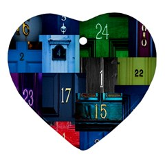 Door Number Pattern Ornament (heart) by Amaryn4rt