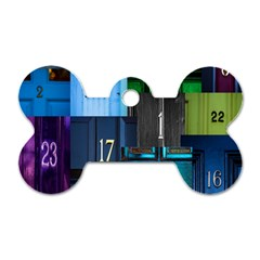 Door Number Pattern Dog Tag Bone (one Side) by Amaryn4rt