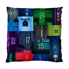 Door Number Pattern Standard Cushion Case (two Sides) by Amaryn4rt