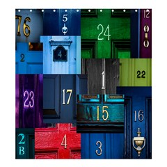 Door Number Pattern Shower Curtain 66  X 72  (large)  by Amaryn4rt