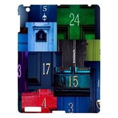 Door Number Pattern Apple Ipad 3/4 Hardshell Case by Amaryn4rt