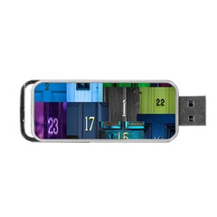 Door Number Pattern Portable Usb Flash (one Side) by Amaryn4rt