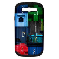 Door Number Pattern Samsung Galaxy S Iii Hardshell Case (pc+silicone) by Amaryn4rt