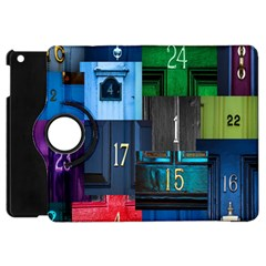 Door Number Pattern Apple Ipad Mini Flip 360 Case by Amaryn4rt
