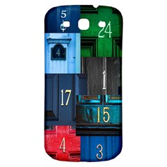 Door Number Pattern Samsung Galaxy S3 S Iii Classic Hardshell Back Case by Amaryn4rt