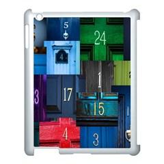 Door Number Pattern Apple Ipad 3/4 Case (white)