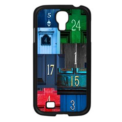 Door Number Pattern Samsung Galaxy S4 I9500/ I9505 Case (black) by Amaryn4rt