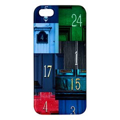 Door Number Pattern Iphone 5s/ Se Premium Hardshell Case by Amaryn4rt