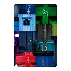 Door Number Pattern Samsung Galaxy Tab Pro 10 1 Hardshell Case by Amaryn4rt