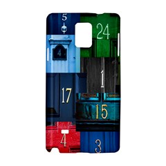 Door Number Pattern Samsung Galaxy Note 4 Hardshell Case by Amaryn4rt