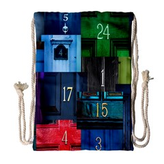 Door Number Pattern Drawstring Bag (large) by Amaryn4rt