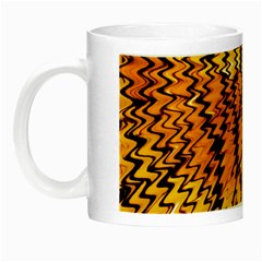 Yellow Chevron Zigzag Pattern Night Luminous Mugs by Amaryn4rt