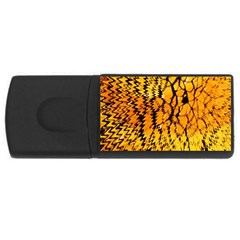 Yellow Chevron Zigzag Pattern Usb Flash Drive Rectangular (4 Gb) by Amaryn4rt