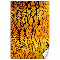Yellow Chevron Zigzag Pattern Canvas 24  X 36  by Amaryn4rt