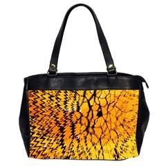 Yellow Chevron Zigzag Pattern Office Handbags (2 Sides)  by Amaryn4rt