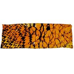 Yellow Chevron Zigzag Pattern Body Pillow Case Dakimakura (two Sides) by Amaryn4rt