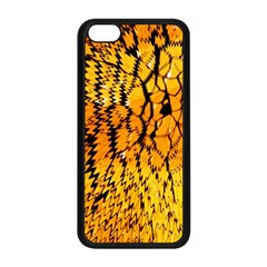 Yellow Chevron Zigzag Pattern Apple Iphone 5c Seamless Case (black) by Amaryn4rt
