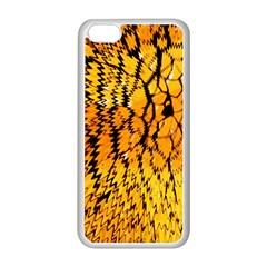 Yellow Chevron Zigzag Pattern Apple Iphone 5c Seamless Case (white) by Amaryn4rt