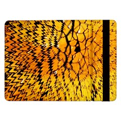 Yellow Chevron Zigzag Pattern Samsung Galaxy Tab Pro 12 2  Flip Case by Amaryn4rt