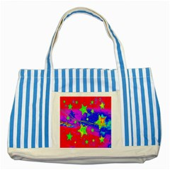 Red Background With A Stars Striped Blue Tote Bag by Amaryn4rt
