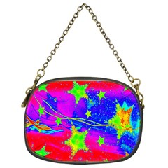 Red Background With A Stars Chain Purses (one Side)  by Amaryn4rt