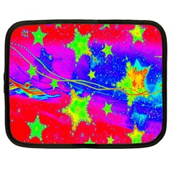 Red Background With A Stars Netbook Case (xxl)