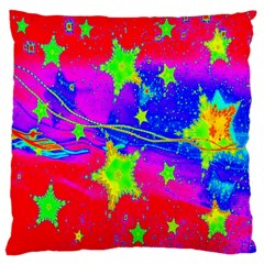 Red Background With A Stars Large Cushion Case (two Sides) by Amaryn4rt