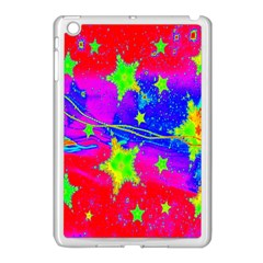 Red Background With A Stars Apple Ipad Mini Case (white) by Amaryn4rt