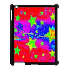 Red Background With A Stars Apple Ipad 3/4 Case (black) by Amaryn4rt
