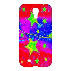 Red Background With A Stars Samsung Galaxy S4 I9500/i9505 Hardshell Case by Amaryn4rt