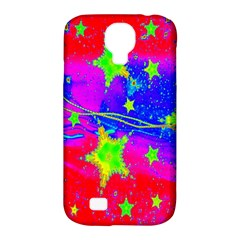 Red Background With A Stars Samsung Galaxy S4 Classic Hardshell Case (pc+silicone) by Amaryn4rt