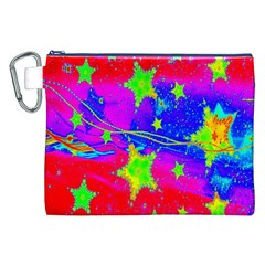Red Background With A Stars Canvas Cosmetic Bag (xxl) by Amaryn4rt
