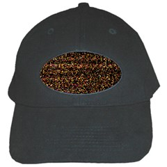 Colorful And Glowing Pixelated Pattern Black Cap by Amaryn4rt