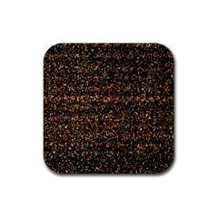 Colorful And Glowing Pixelated Pattern Rubber Square Coaster (4 Pack)  by Amaryn4rt