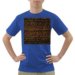 Colorful And Glowing Pixelated Pattern Dark T Shirt by Amaryn4rt