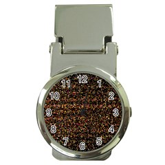 Colorful And Glowing Pixelated Pattern Money Clip Watches