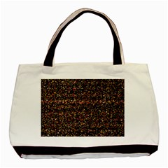 Colorful And Glowing Pixelated Pattern Basic Tote Bag by Amaryn4rt