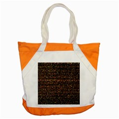 Colorful And Glowing Pixelated Pattern Accent Tote Bag by Amaryn4rt