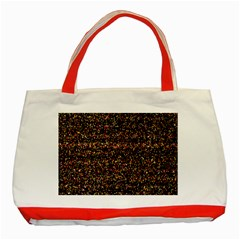 Colorful And Glowing Pixelated Pattern Classic Tote Bag (red) by Amaryn4rt