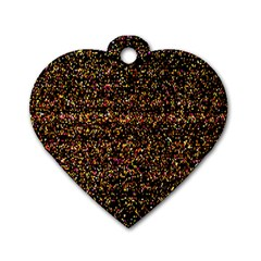 Colorful And Glowing Pixelated Pattern Dog Tag Heart (two Sides) by Amaryn4rt