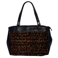 Colorful And Glowing Pixelated Pattern Office Handbags by Amaryn4rt